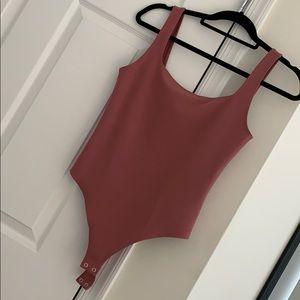 Square Neck Pink Bodysuit